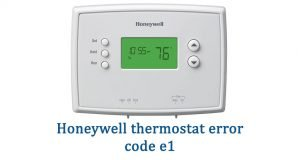 Honeywell thermostat error code e1