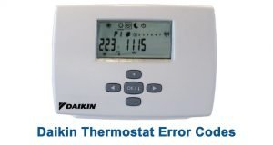 Daikin Thermostat Error Codes