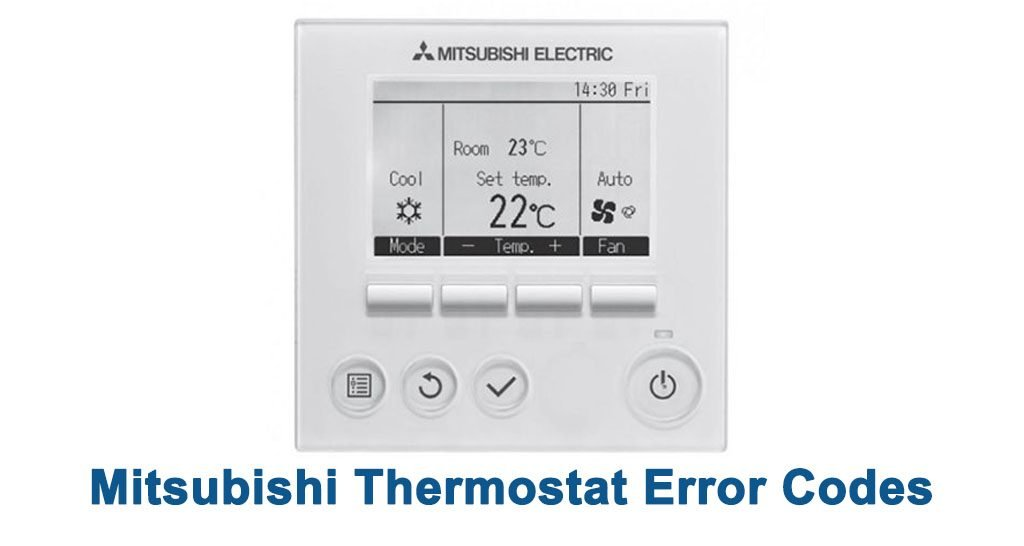 Mitsubishi Thermostat Error Codes