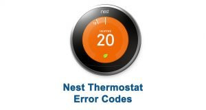 Nest Thermostat Error Codes